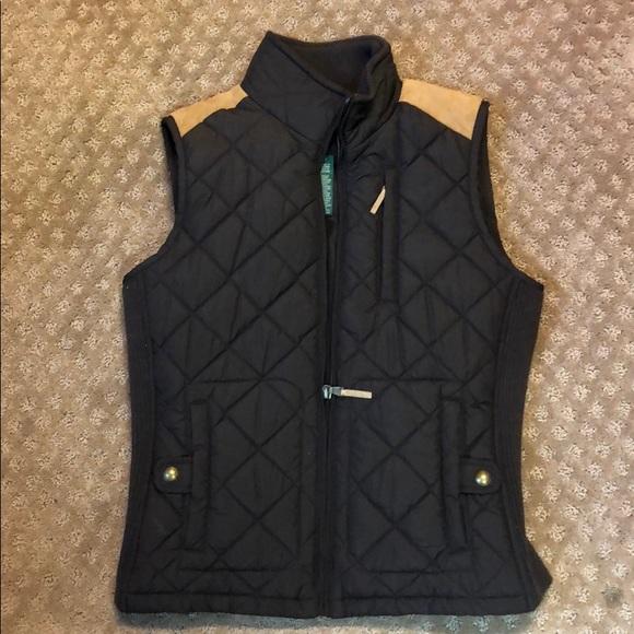 Lauren by Ralph Lauren brown quilted vest